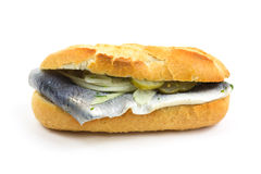 Baguette with fish Stock Photography