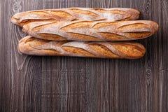 Baguette francesi fresche tre Immagine Stock Libera da Diritti
