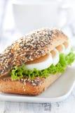 Baguette fresco com ovo Fotografia de Stock