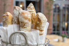 Baguette. Fresh, crispy baguette in a basket Stock Photo