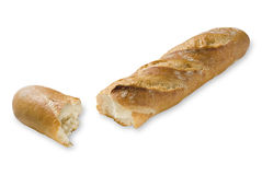Baguette gebrochen Stock Photo