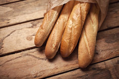 Baguette group french traditional bakery Stock Image