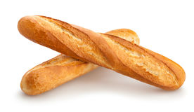 Baguette. Group on white background Royalty Free Stock Image