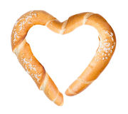 Baguette heart Stock Photo