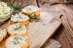 Baguette (with Herb Butter and Garlic) Stock Image