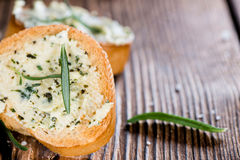 Baguette (with Herb Butter and Garlic) Stock Photography