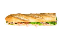 Baguette isolated Royalty Free Stock Photos