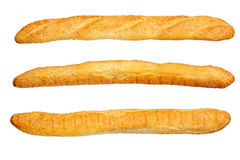 Baguette isolated on white Royalty Free Stock Images