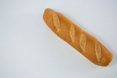Baguette loaf on white background Royalty Free Stock Photos