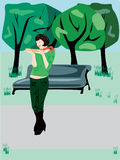 Baguette-Lover#3 Royalty-vrije Illustratie