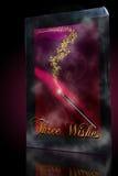 Baguette magique de magie de trois souhaits Photos stock