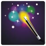 Baguette magique et étoiles magiques Images stock