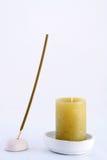 Baguette magique et bougie parfumées de station thermale Images stock