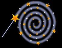 Baguette magique magique Images libres de droits