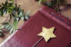 Baguette magique magique d'étoile Images stock