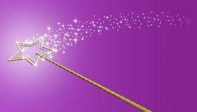 Baguette magique magique d'or et d'argent avec des étincelles illustration libre de droits
