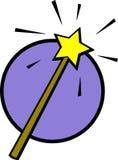 Baguette magique magique de vecteur avec l'illustration d'étoile Photo stock