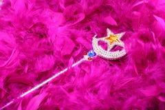 Baguette magique magique sur l'écharpe de clavette Photo stock