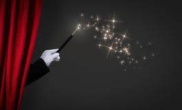 Baguette magique magique sur l'étape photographie stock libre de droits