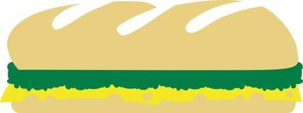 Baguette met groente Royalty-vrije Stock Foto