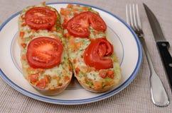 Baguette met pesto Stock Afbeelding