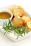 Baguette and olive oil Stock Image