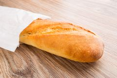 Baguette in paper bag Royalty Free Stock Photography