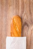 Baguette in paper bag Stock Image