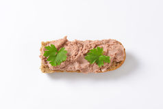 Baguette with pate Royalty Free Stock Photos