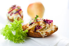 Baguette with pear Royalty Free Stock Images