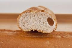baguette piec zamknięty rżnięty świeży up Fotografia Royalty Free