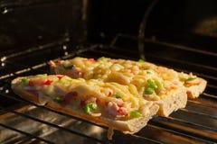 Baguette rôtie Photo stock
