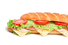 A baguette sandwich Royalty Free Stock Image