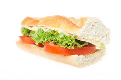Baguette sandwich royalty free stock photo