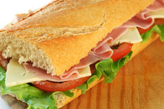 Baguette Sandwich Closeup Royalty Free Stock Photo
