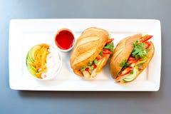 Baguette sandwich Stock Photography