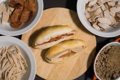 Baguette sandwich Royalty Free Stock Image