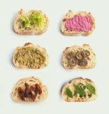 Baguette sandwiches Stock Images
