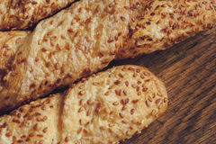 Baguette with sesame seeds Royalty Free Stock Images