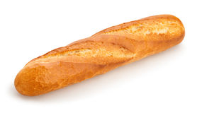 Baguette. Single baguette on white background Royalty Free Stock Photography