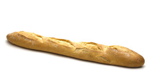 Baguette on white background Stock Photo