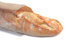 Baguette on white background. Royalty Free Stock Photography