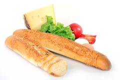 Baguette on white Stock Photo