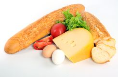 Baguette on white Royalty Free Stock Images