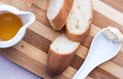 Baguette on a wooden board Royalty Free Stock Image