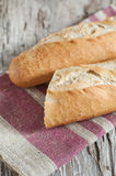 Baguette on the wooden board Royalty Free Stock Photography
