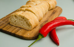 Baguette z chilies Zdjęcie Royalty Free