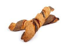 Baguettes avec des clous de sésame et de girofle Images libres de droits