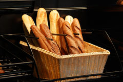 Baguettes in the basket Stock Images