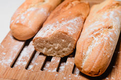 Baguettes on the board Royalty Free Stock Photography